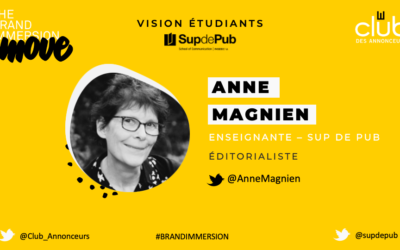 Entretien avec Anne Magnien pour Sup de Pub
